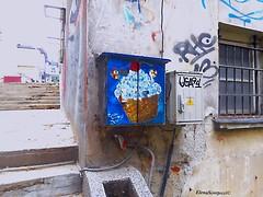 street art Veliko Tarnovo (Elena Scortecci) Tags: street urban streetart art graffiti strada arte bulgaria icecream gelato urbano tarnovo velikotarnovo switchboard veliko generatore