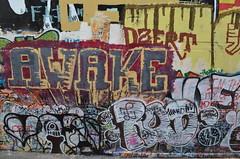 9/8/2014 Free Wall (sixheadedgoblin) Tags: spray rod crown publicart awake olympiawashington freewall dzert
