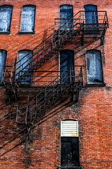 Sometimes a Brief Escape Is Called For (brianlrodgers) Tags: columbus ohio building brick architecture outdoor fireescape shortnorth