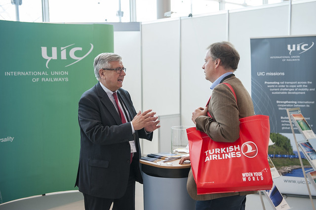 Paul Véron at the UIC stand