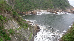 Storms River Mouth (Rckr88) Tags: ocean africa travel sea cliff nature water river southafrica outdoors coast south cliffs coastal rivers coastline storms gardenroute tsitsikamma easterncape rockycoastline tsitsikammanationalpark stormsrivermouth