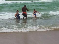Shore Activity (LarryJay99 ) Tags: ocean family sea people water aqua surf waves horizon hollywood seashore atlanticocean tides photostream wading bythesea hollywoodbeach iphone6plusbackcamera415mmf22 byseankenney friendsofdiversity