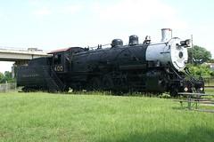 Brickworld_Other_037 (SavaTheAggie) Tags: texas pacific texaspacific railroad museum marshall tp mikado steam locomotive 282 400 caboose union building detail tender