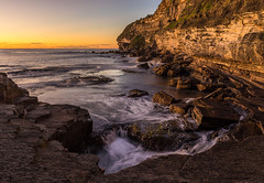 Warriewood Blowhole (dave.gti) Tags: ocean sunrise rocks blowhole warriewood oceanscape