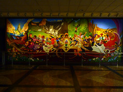 mother's day 2016 on galveston island,   on the way home, denver airport mural 5-16 (nolehace) Tags: sanfrancisco plant galveston flower architecture island spring airport day denver mothers co bloom 2016 516 colordo nolehace fz35