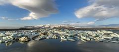 The Ice Lagoon (Nick L) Tags: ice clouds canon volcano iceland glacier 5d canon5d hvannadalshnjkur glaciallake rfajkull hvannadalshnjukur 1635lii 5d3 canon5d3 icelakeatjkulsrln icelagoonatjkulsrln icelagoonatjokulsarlon