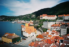 Bergen (Nick Today) Tags: city travel film nature norway analog 35mm norge town cozy lomo lca lomography hiking bergen quaint