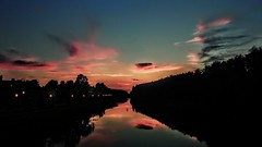 pic from a bridge (arvosoosalu) Tags: city sunset summer sky nature sunshine weather night river walk