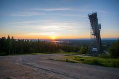 Auringonlasku Vuokatista katsottuna (Jesseasd) Tags: maisema vuokatti auringonlasku sigma1020mm sotkamo vaara laskettelurinne kainuu mkihyppytorni nikond7100