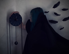 Time is Ticking (Alice Consonni) Tags: portrait selfportrait art self dark photography death nikon artistic time alice fine creative indoor portraiture darkart ticking d80 nikond80 consonni