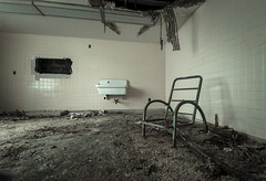 Maysville Hospital (Tom McAdam) Tags: old light history abandoned trash hospital dark chair nikon closed decay kentucky debris eerie spooky forgotten urbanexploration horror rotten desolate derelict hdr urbex d610 lostplaces