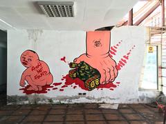 Blood Tank (MrOGAY) Tags: life street streetart art love wall naked graffiti fineart taiwan lifestyle pug style canvas ugly taipei hiphop spraypaint tainan piece  badboy            kimpa  ogay mrogay misterogay streetarttaiwan