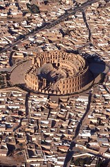 Ancient Rome. Roman Colosseum of El Djem (Thysdrus in latin), builded in 238 AD, Tunisia,  Africa Proconsularis (mike catalonian) Tags: africa tunisia colosseum ancientrome eldjem thysdrus 238ad africaproconsularis