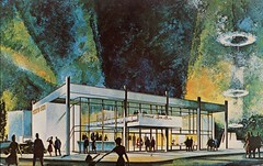 General Cigar Pavilion, New York World's Fair, 1964-65 (SwellMap) Tags: architecture vintage advertising design pc 60s fifties postcard suburbia style kitsch retro nostalgia chrome americana 50s roadside googie populuxe sixties babyboomer consumer coldwar midcentury spaceage atomicage
