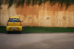 Sometimes you just need to disconnect from everyone else and enjoy your own company (Premnath Thirumalaisamy) Tags: parking car yellow parkingspace empty apartment quotes solitude alone lonely