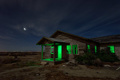 home on the range. 2015. (eyetwist) Tags: california wood longexposure light sky moon house lightpainting green abandoned broken architecture night clouds farmhouse america dark painting stars photography saturated nikon long exposure peeling desert angle decay farm exploring horizon wide ruin wideangle fullmoon moonlit faded forgotten valley highdesert mojave antelope lancaster flashlight moonlight weathered shack roadside nikkor antelopevalley derelict gel nocturne clapboard arid av tumbleweeds crumbling mojavedesert alfalfa urbex eyetwist npy d7000 capturenx2 eyetwistkevinballuff nikond7000 1024mmf3545g