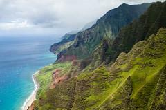 Napali Coastline (MSargePhoto) Tags: blue hawaii coast helicopter kauai tours napali