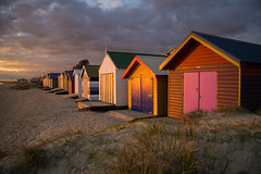 A July sunset at Edithvale beach (gifas) Tags: winter colour atmosphere melbourne beachhuts portphillip edithvale