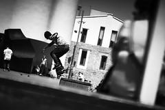 Skater (#2) (elgunto) Tags: skate skater skateboard macba street blackwhite bw barcelona sonya7 nikon10525 manuallense