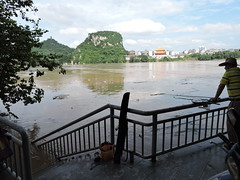 Liuzhou/ DSCN8760 (Petr Novk ()) Tags:  china na  guangxi  liuzhou  asia asie    flood water city river   fishing