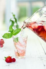 Ros Sangria (Pamela Greer) Tags: ros cocktails fruit llifestyle raspberries sangria strawberries wine