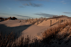 Dunes - Late Afternoon (mp13 nhnc) Tags: sky sand shadows dunes northcarolina outerbanks obx dunefence