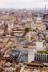 SkyGarden - June 2016 (300 jours  Paris) Tags: city uk travel england sky panorama london st skyline architecture garden photography cathedral pauls shard gherkin skygarden