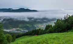 1145 (Keiichi T) Tags:  seaofclouds tree  cloud eos 6d blue green mountain    shadow  canon      morning japan forest light sky