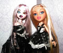 Cousinz (Lavender Bratz) Tags: bratz bratzillaz lavenderbratz cloe cloetta spelletta custom doll dolls dollz girls cute black fashion customs ooak mga mgae entertainment witch cousins customz
