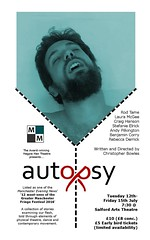 Autopsy @AndyJPilkington by @MagpieManMCR 12-15 July @SalfordArts https://www.ticketea.co.uk/tickets-theatre-autopsy/ (gmfringe) Tags: new uk summer england music english festival flesh mouth manchester death dance actors poetry play cheshire northwest theatre britain body contemporary stage events yorkshire performance lancashire bee entertainment relationship lgbt poet nudity northern drama gender sexuality spokenword physicaltheatre autopsy monologues puberty mortuary newwriting coroner selfharm bodydysmorphia craighanson rebeccaderrick salfordartstheatre christopherbowles whatson rodtame diehexen lauramcgee andypilkington gmfringe greatermanchesterfringe benjamincorry stefanieelrick