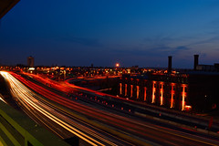 Highway 95 (E. Aguedo) Tags: light sunset urban night island highway long exposure downtown ngc trails providence rhode