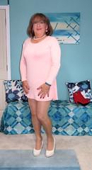 Short Pink (Trixy Deans) Tags: cute sexy classic dress cd x crossdressing tgirl transvestite corset crossdresser crossdress transsexual lbd classy littleblackdress cocktaildress ballgown sexyblonde xdresser sexyheels sexytransvestite