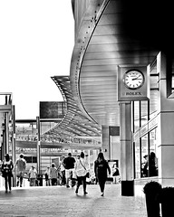 rolex time (Harry Halibut) Tags: street bw art blancoynegro public lines branco liverpool project john shopping one blackwhite paradise noiretblanc south centre curves images preto link leisure residential zwart wit weiss complex bianco blanc nero allrightsreserved merseyside noire schwatz liverpoolone liverpoolarchitecture liverpoolbuildings contrastbysoftwarelaziness imagesofliverpool publicartinliverpool 2016andrewpettigrew liverpool1606232449