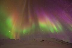 Auroral Rainbow (Ben  H.) Tags: winter orange storm green alaska rainbow purple aurora range brooks borealis geomagnetic