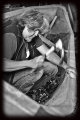 Making a Tlingit Canoe (Tatchum) Tags: canoe carve cedar tlingit adz