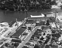 P-15-A-004 (neenahhistoricalsociety) Tags: downtown aerialphotograph