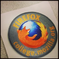 Found a cell phone in the restroom and reunited it with its owner. Owner gave me a cool Firefox patch. # instantkarma (Wilson Lam {WLQ}) Tags: hello square squareformat yah iphoneography instagramapp uploaded:by=instagram foursquare:venue=4aaece85f964a520626320e3