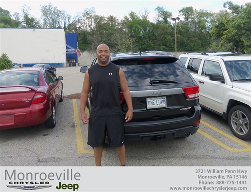Monroeville Chrysler Jeep would like to say Congratulations to Byron Stone on the 2013 Jeep Grand Cherokee