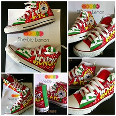a0403a1b44f4a3 graffit lfc converse (Sherbie lemon) Tags  red green liverpool graffiti  football shoes converse