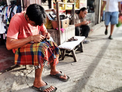 shoe repair (Rhannel Alaba) Tags: street philippines cebu minglanilla pido alaba iphoneography rhannel iphone4s