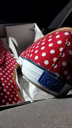 Polka Dot Red Keds
