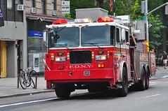 FDNY Reserve Tower Ladder (Triborough) Tags: nyc newyorkcity eastvillage ny newyork manhattan firetruck fireengine ladder fdny greenwichvillage seagrave newyorkcounty towerladder newyorkcityfiredepartment