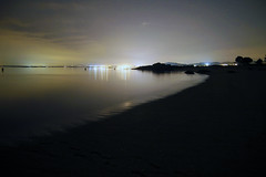 Living la vida (Víctor Parra) Tags: beach night major long exposure mayor grove o playa galicia nocturna ursa osa sanxenxo