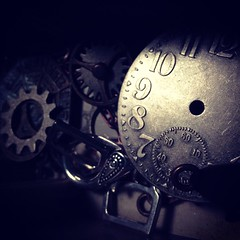 Clock Work (shadowcat294) Tags: texture clock face dark time watch steam cogs gears steampunk