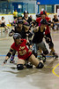 Roller Derby Tumble (Rock Steady Images) Tags: original ontario canada sports canon eos rollerderby places 7d processing handheld 200views 50views lenses alliston 25views bypaulchambers canonef70200mmf28isiiusm lightroom4 rocksteadyimages