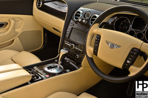 Bentley Continental GTC Mulliner Interior Shot.