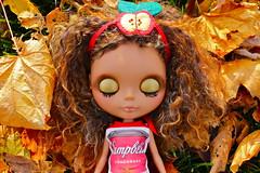 guen (cybermelli) Tags: nyc sky apple soup big doll dress skin heather tan mohair warhol blythe custom campbell headband skinned rbl reroot happibug