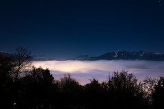 Nighty and illuminated sea of fog above Vevey's and the Lac Lman's area. (Conrad Zimmermann) Tags: night suisse nocturne vaud chardonne ilobsterit