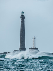Phares de l'le-Vierge (y.caradec) Tags: sea mer lighthouse france brittany europe waves wave bretagne nuage nuages vague vagues phare bzh finistre ocan finistere 2013 plouguerneau finistrenord levierge 311213 pharedellevierge 131231 dcembre2013