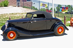 1933 Ford Convertible (coconv) Tags: pictures auto street old black classic cars ford car vintage photo automobile image photos 33 antique deluxe picture convertible images vehicles photographs photograph vehicle rod autos collectible custom collectors v8 automobiles 1933 roadster blart